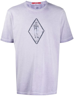 C.P. Company faded diamond print T-shirt