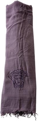 Versace Purple Cotton Scarves