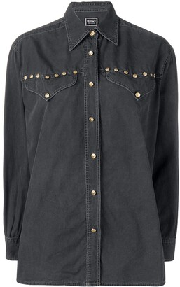 Versace Pre Owned Long-Sleeve Buttoned Shirt