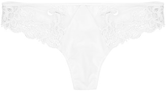 Saga black guipure lace thong