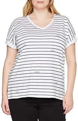 Ulla Popken Women's's Oversized-Shirt mit Boot-Streifen T, UK 34