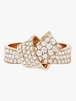 Carelle Knot Pave Diamond Ring
