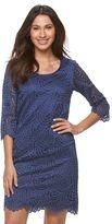 Ronni Nicole Women's Swirl Lace Shift Dress