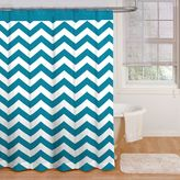 Bed Bath & Beyond Ryder 72-Inch x 72-Inch Shower Curtain in Peacock Blue/White