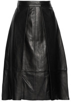 Rag & Bone Rowe Pleated Leather Skirt - Black