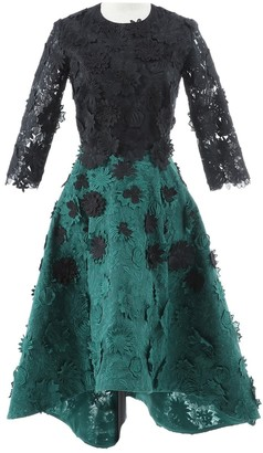 N. Non Signé / Unsigned Non Signe / Unsigned \N Green Polyester Dresses