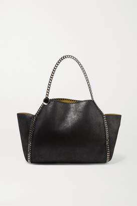 Stella McCartney The Falabella Medium Reversible Faux Brushed-leather Tote - Black