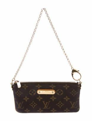 Louis Vuitton Monogram Pochette Milla MM Brown