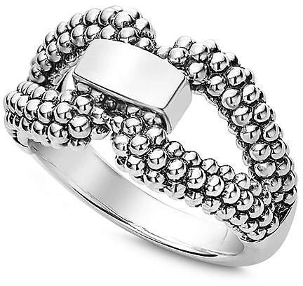 Lagos Sterling Silver Derby Caviar Ring