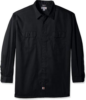 Carhartt Men's Big-Tall Twill Work Long Shirt Button Front