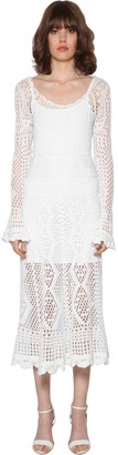 Polo Ralph Lauren Crochet Cotton Midi Dress