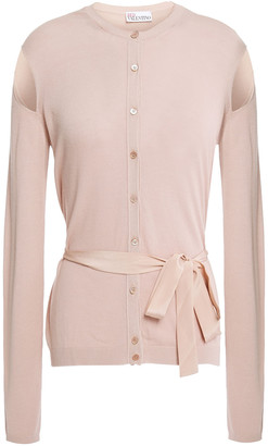 RED Valentino Cutout Point D'esprit And Knitted Cardigan
