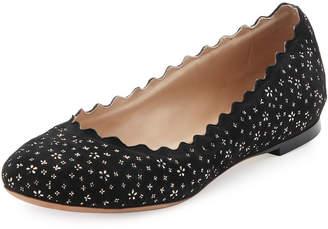 Chloé Lauren Leather Ballet Flats, Black