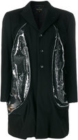 Comme des Garcons side sheer insert buttoned coat