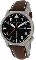 Momentum Men's ' Automatic Stainless Steel and Leather Casual Watch, Color:Brown (Model: 1M-SN92BS2C)