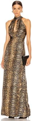 Victoria Beckham Halter Neck Dress in Khaki | FWRD