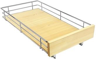 Williams-Sonoma Lynk Slide Out Drawer, Wood & Chrome