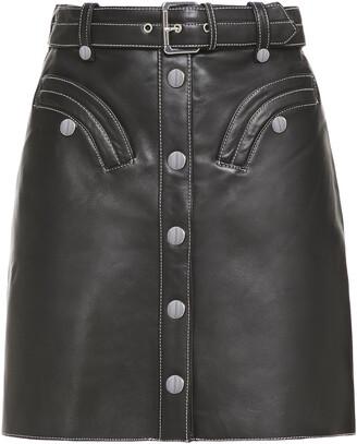 Maje Janaille Leather Mini Skirt