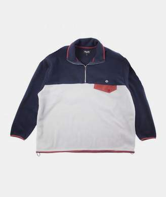 Magenta - Gray Navy Burgundy Polyester North Tricolor Fleece - MEDIUM - White/Red/Blue