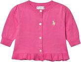 Ralph Lauren Pink Textured Knit Cardigan