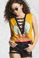 Forever 21 FOREVER 21+ Strappy Graphic Muscle Tee