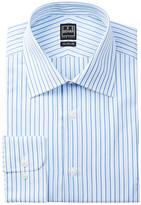 Ike Behar Long Sleeve Striped Dress Shirt