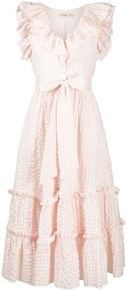 Temperley London Embroidered Ruffled Dress