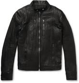 Rick Owens Ies Leather Jacket -Black