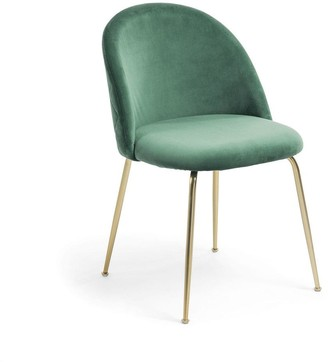 La Forma Australia Gianni Dining Chair Gold Legs With Emerald Green Velvet