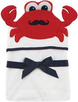 Baby Vision Hudson Baby® Crab Hooded Towel in White