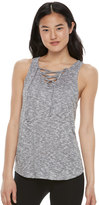 SO Juniors' SO® High Low Lace-Up Tank