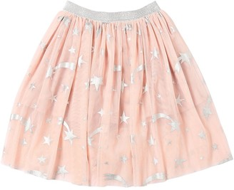 Stella McCartney Stretch Tulle Skirt W/ Lurex Stars