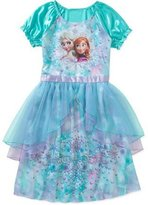 DISNEY Frozen Girls' Fantasy Gown with Anna Elsa , 4-5