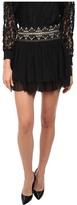Pierre Balmain Layered Skirt with Studded Waistband