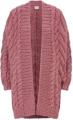 I Love Mr Mittens Cable-Knit Wool Cardigan