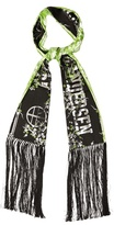 Astrid Andersen Blossom-jacquard Fringed Scarf