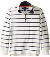 Tommy Hilfiger Stripe 1/2 Zip Sueded Jersey Sweater (Toddler/Little Kids)