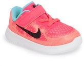 Nike Infant Girl's Free Run 2017 Sneaker