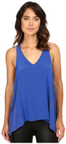Heather Silk Front Racerback Tank Top