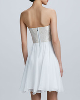 Erin Fetherston Erin by Strapless Sequined Bodice Cocktail Dress