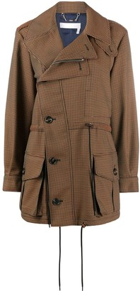 Chloé Houndstooth Off-Centred Coat