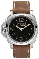 left handed watches shopstyle panerai pam 557 pam00557 luminor 1950 left handed 3 days acciaio stainless steel mens watch