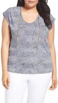 MICHAEL Michael Kors Plus Size Women's Zephyr Chain Neck Top