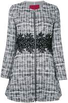 Moncler Gamme Rouge zipped tweed coat