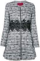 Moncler Gamme Rouge zipped tweed coat