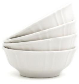 Chloé Euro Ceramica 4 Piece White Cereal Bowl Set