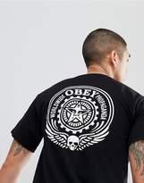 Obey T-Shirt With Propaganda Logo Back Print