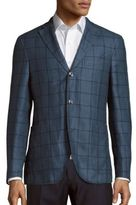 Boglioli Wool & Linen Checked Jacket