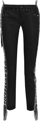 Faith Connexion Frayed Printed Mid-rise Skinny Jeans