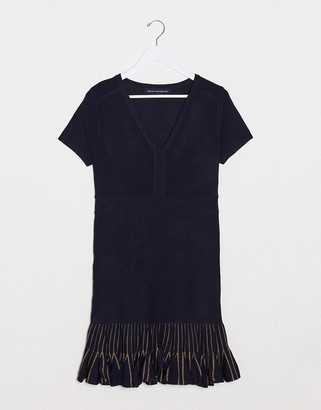 French Connection beth knits short sleeve zip up dress